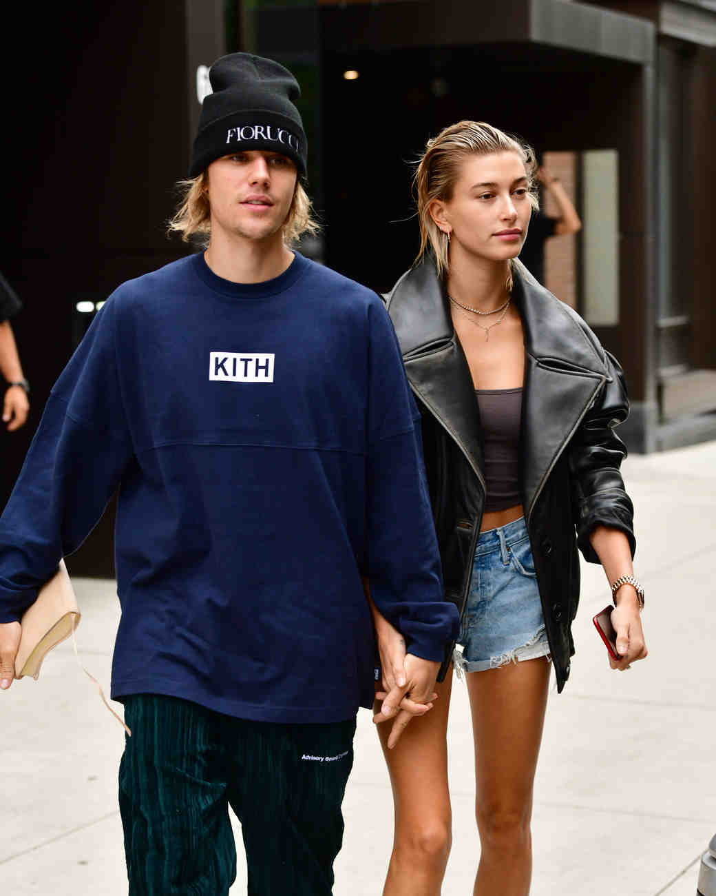 justin bieber and hailey baldwin walking together
