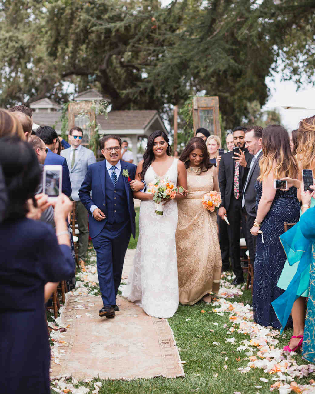 california indian jewish wedding processional