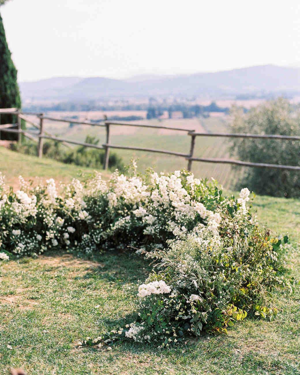 kseniya sadhir wedding outdoor floral ground arch