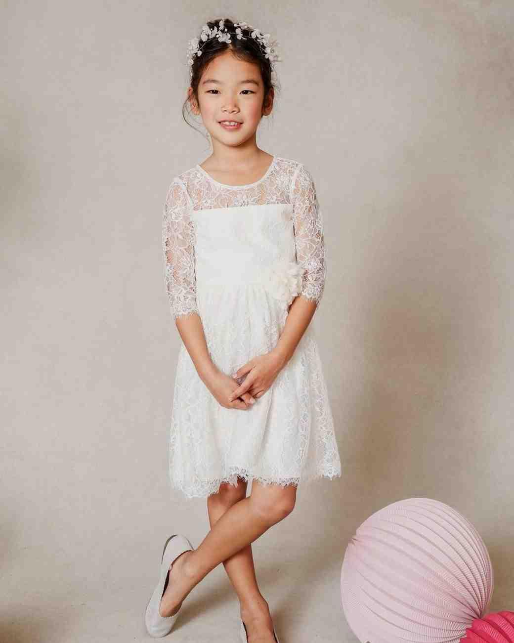 2b5396b93 The Sweetest Lace Flower Girl Dresses   Martha Stewart Weddings
