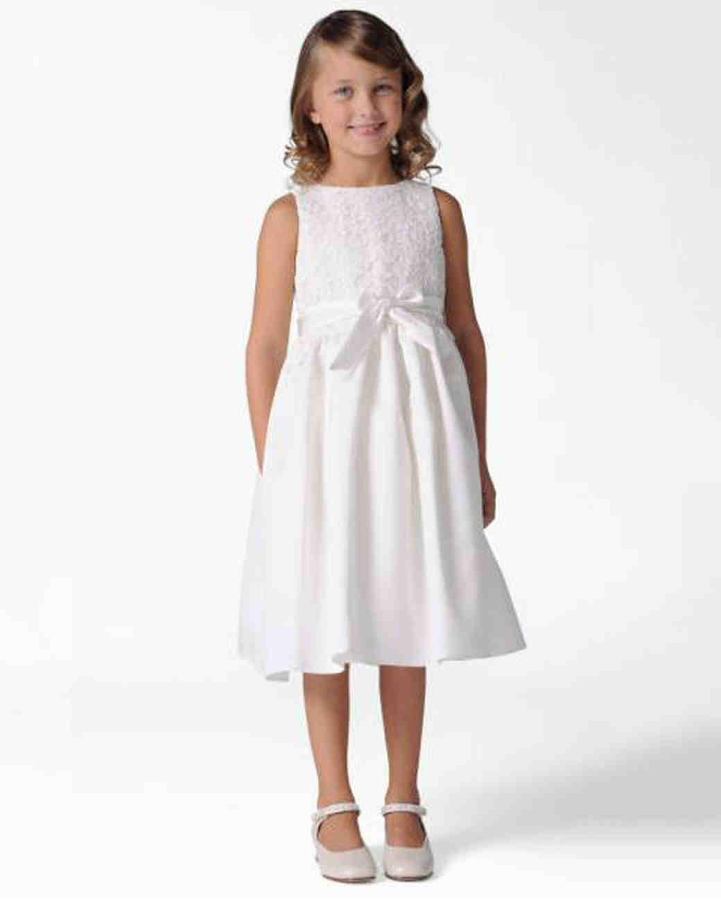 25 Of The Sweetest Lace Flower Girl Dresses Martha Stewart Weddings