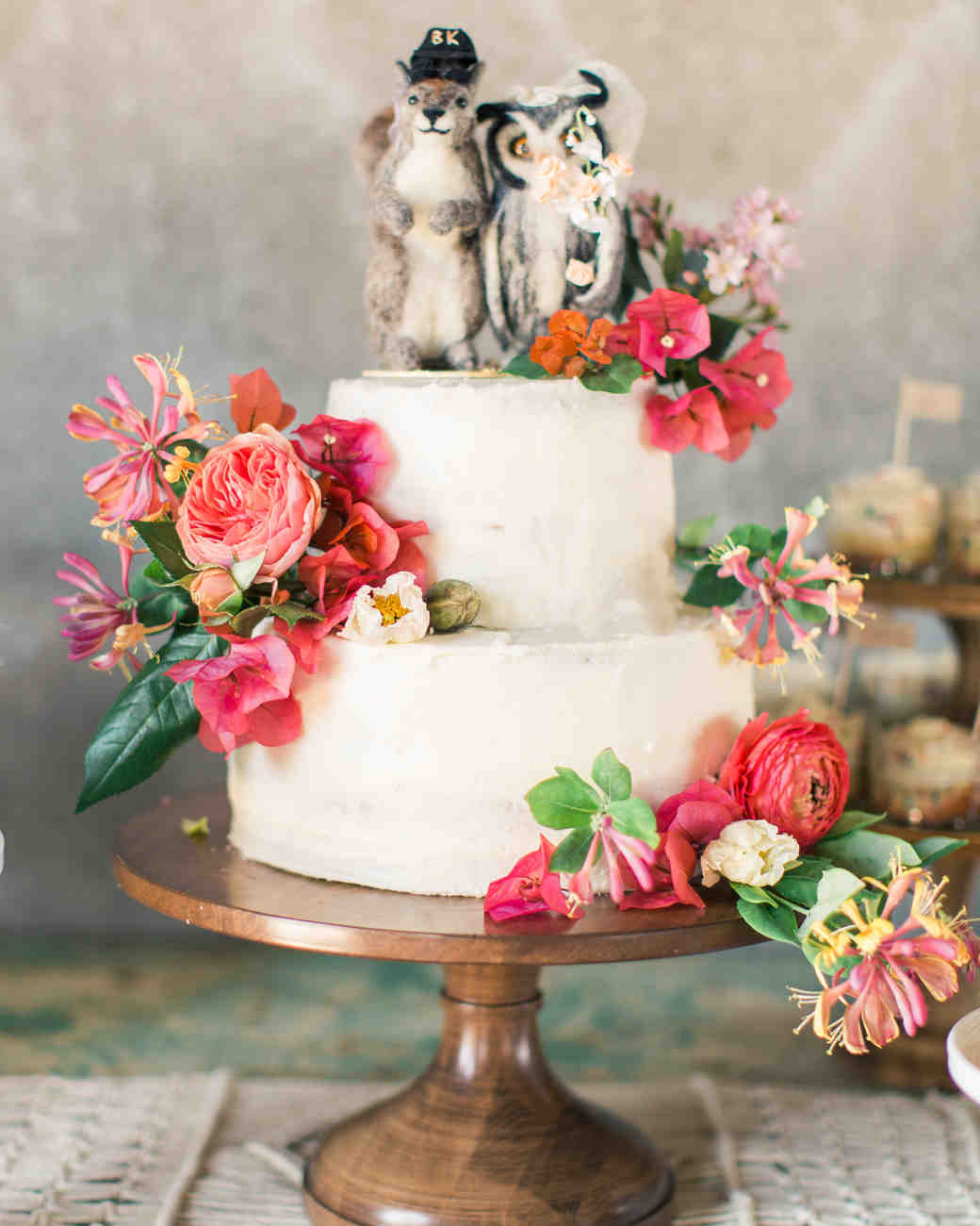 quirky wedding cake