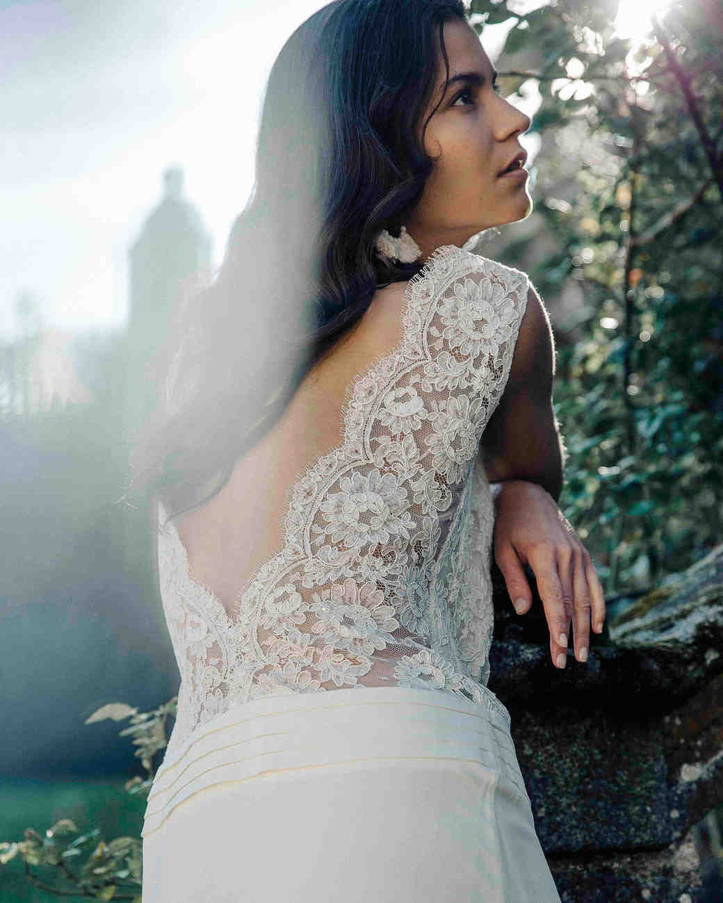 Laure de Sagazan Wedding Dress with lace back