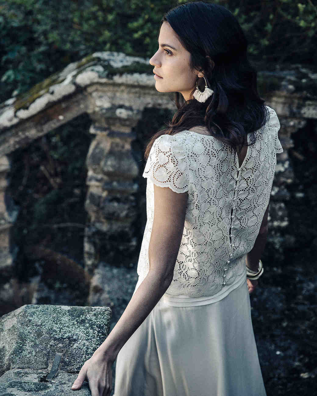 Laure de Sagazan Cap sleeve lace Wedding Dress Spring 2018