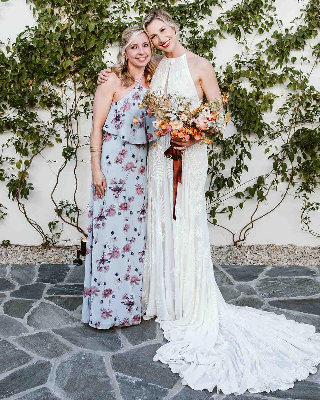 lisa sam mexico wedding friend with bride