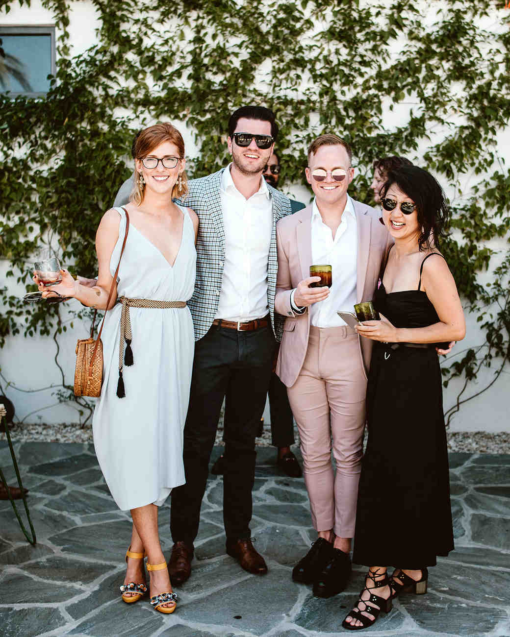 lisa sam mexico wedding guests
