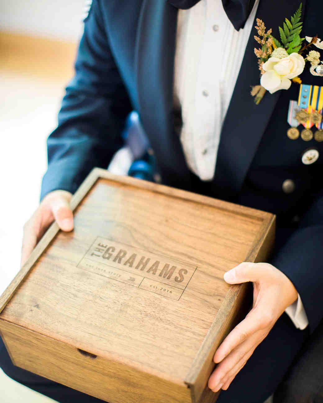 megan scott wedding personalized box