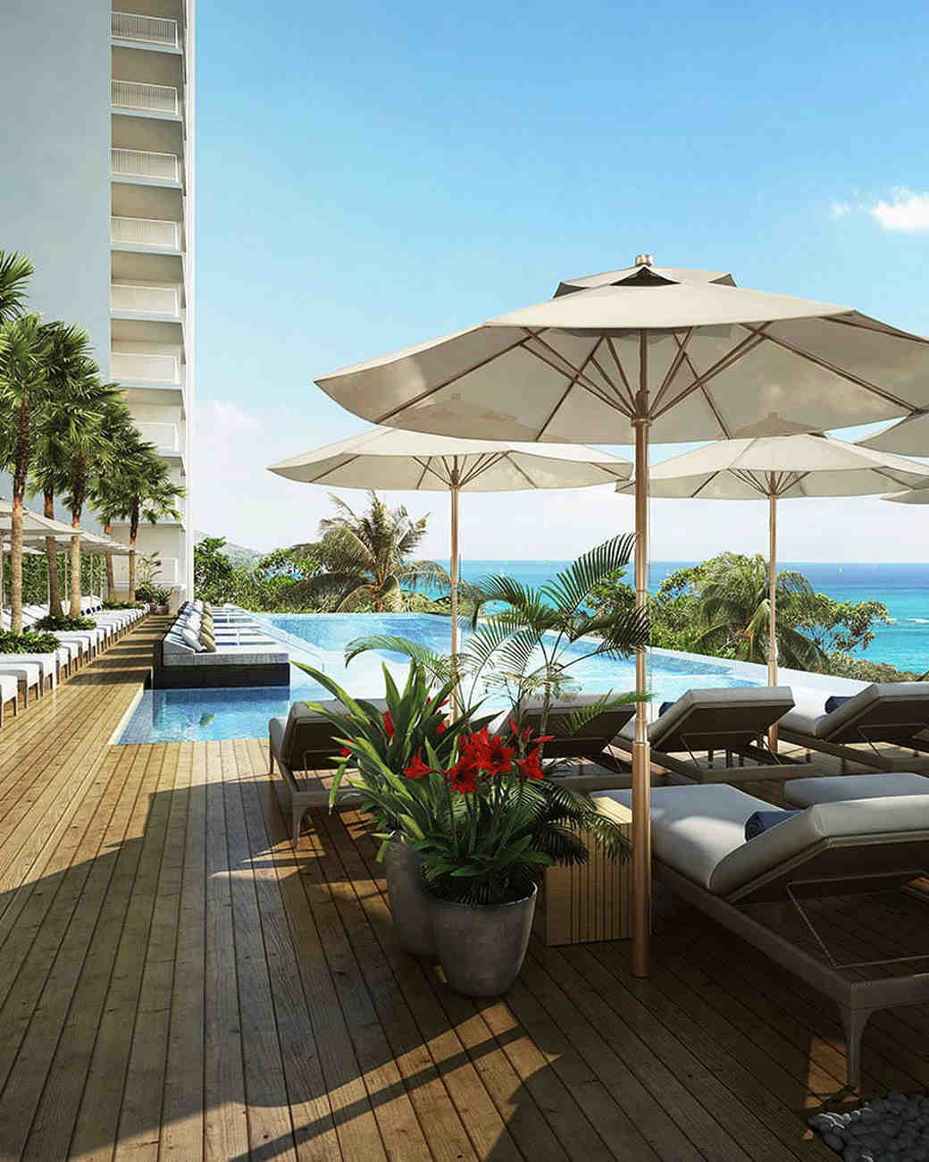 new venue outdoor beach umbrella patio seating