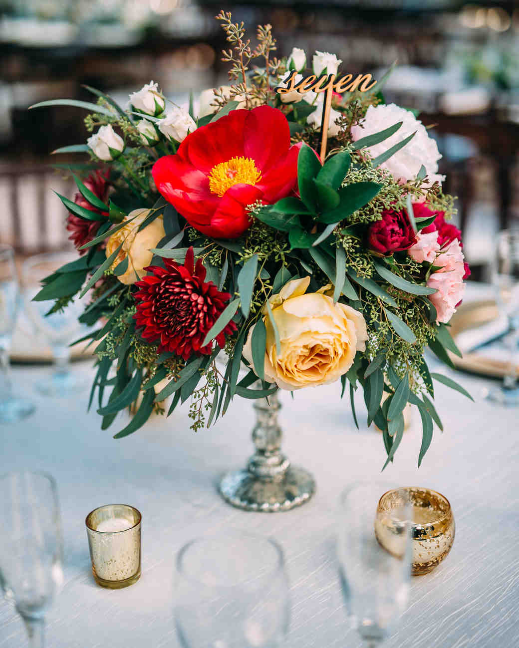 The prettiest peony wedding centerpieces martha stewart weddings peony centerpieces cindy lee photo mightylinksfo