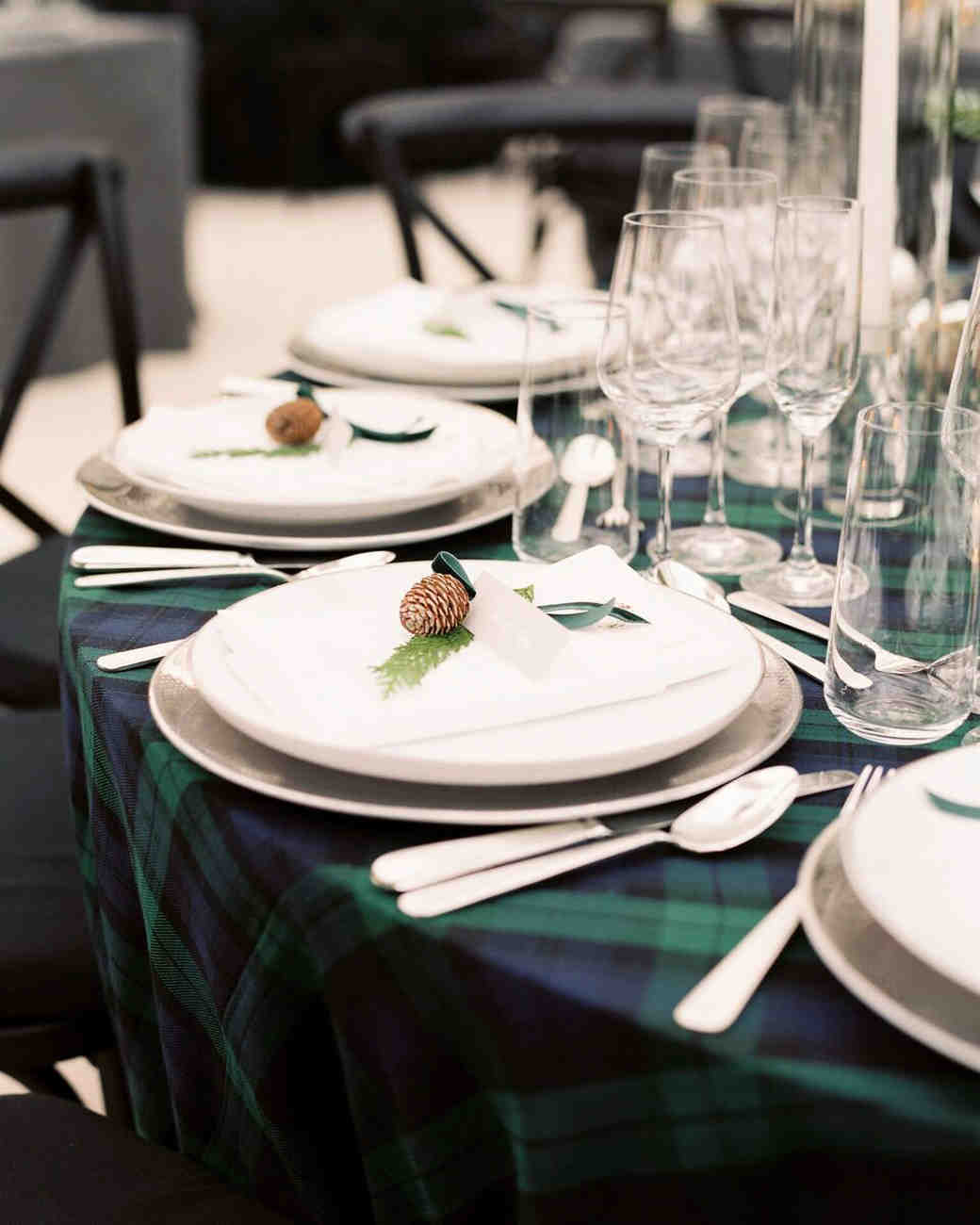 plaid wedding ideas