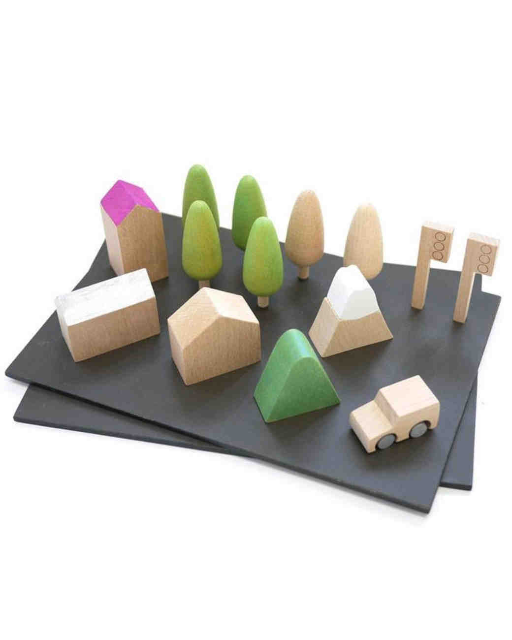 ring bearer gift guide kukkai wooden town play set