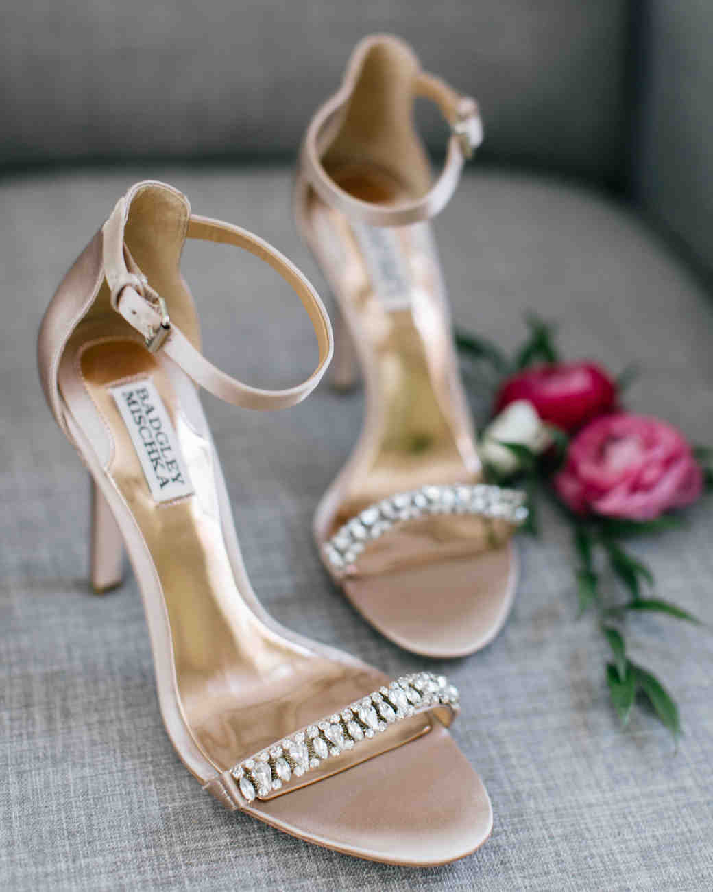 rose gold wedding ideas metallic heels