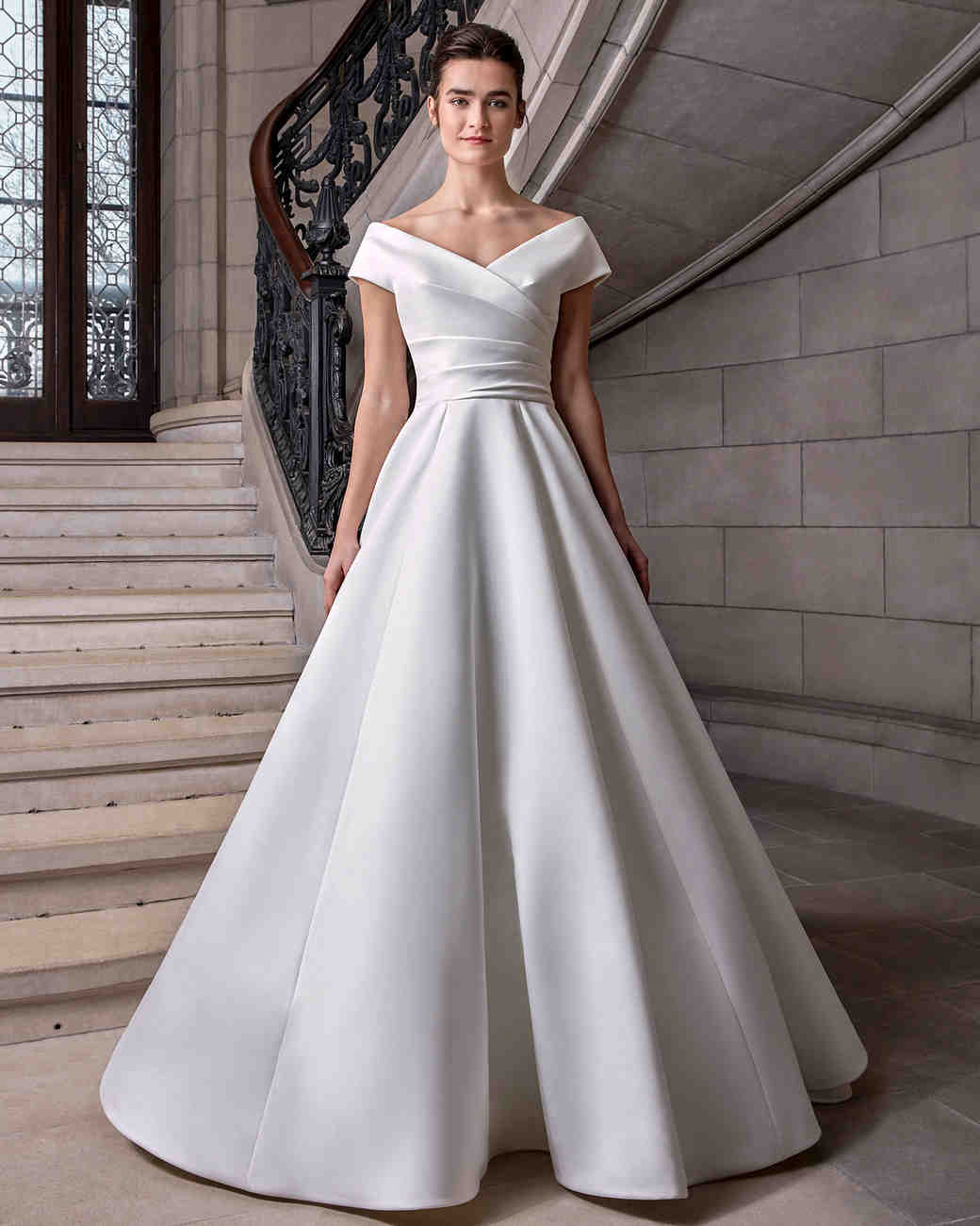 sareh nouri off the shoulder ball gown wedding dress spring 2020
