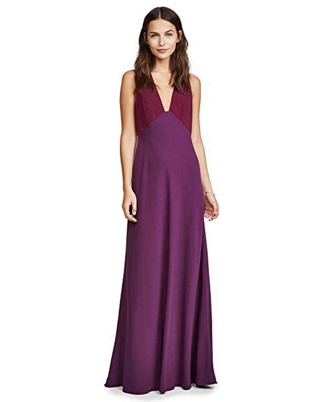 Jill Jill Stuart Two-Tone Gown