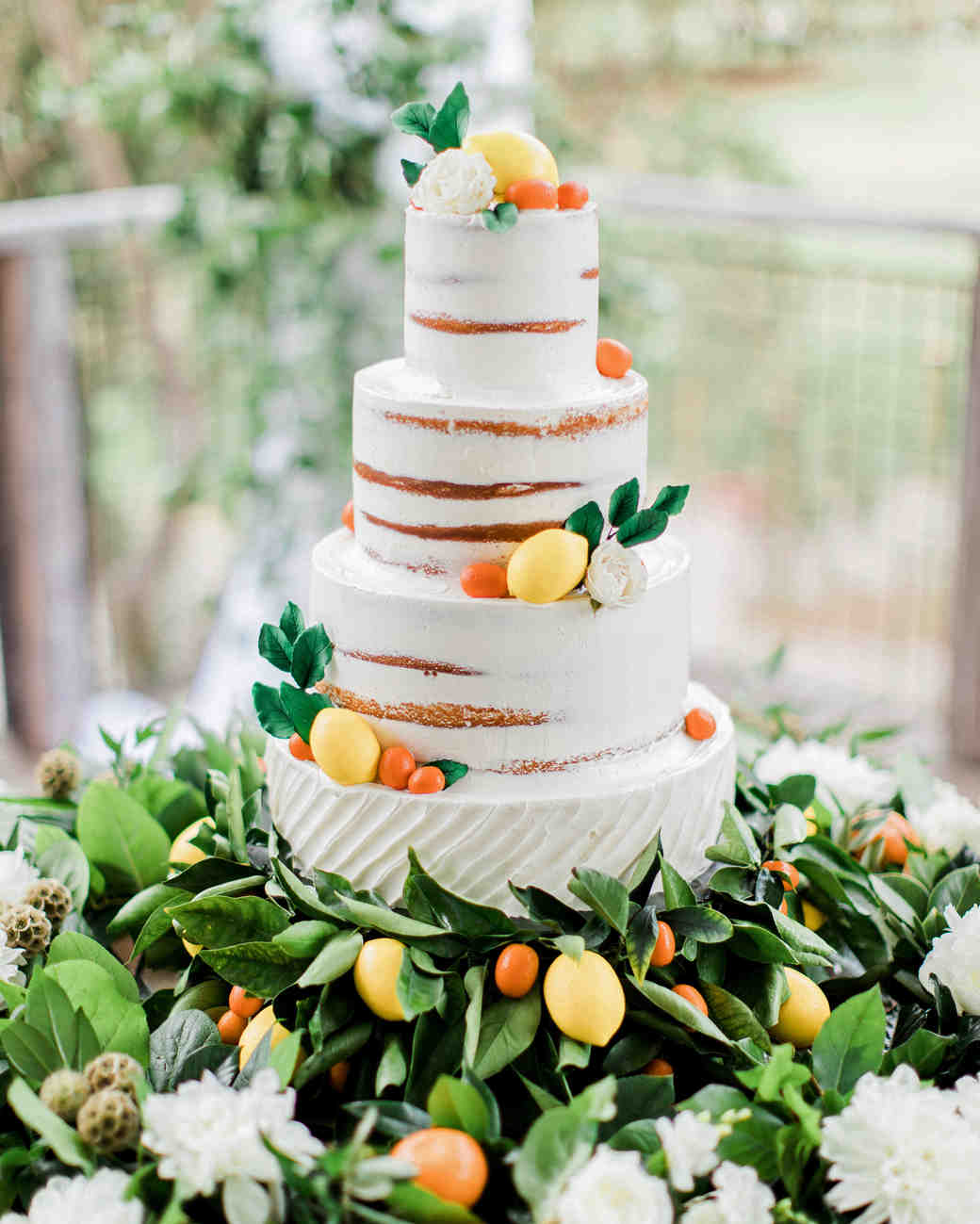 summer wedding cakes citrus