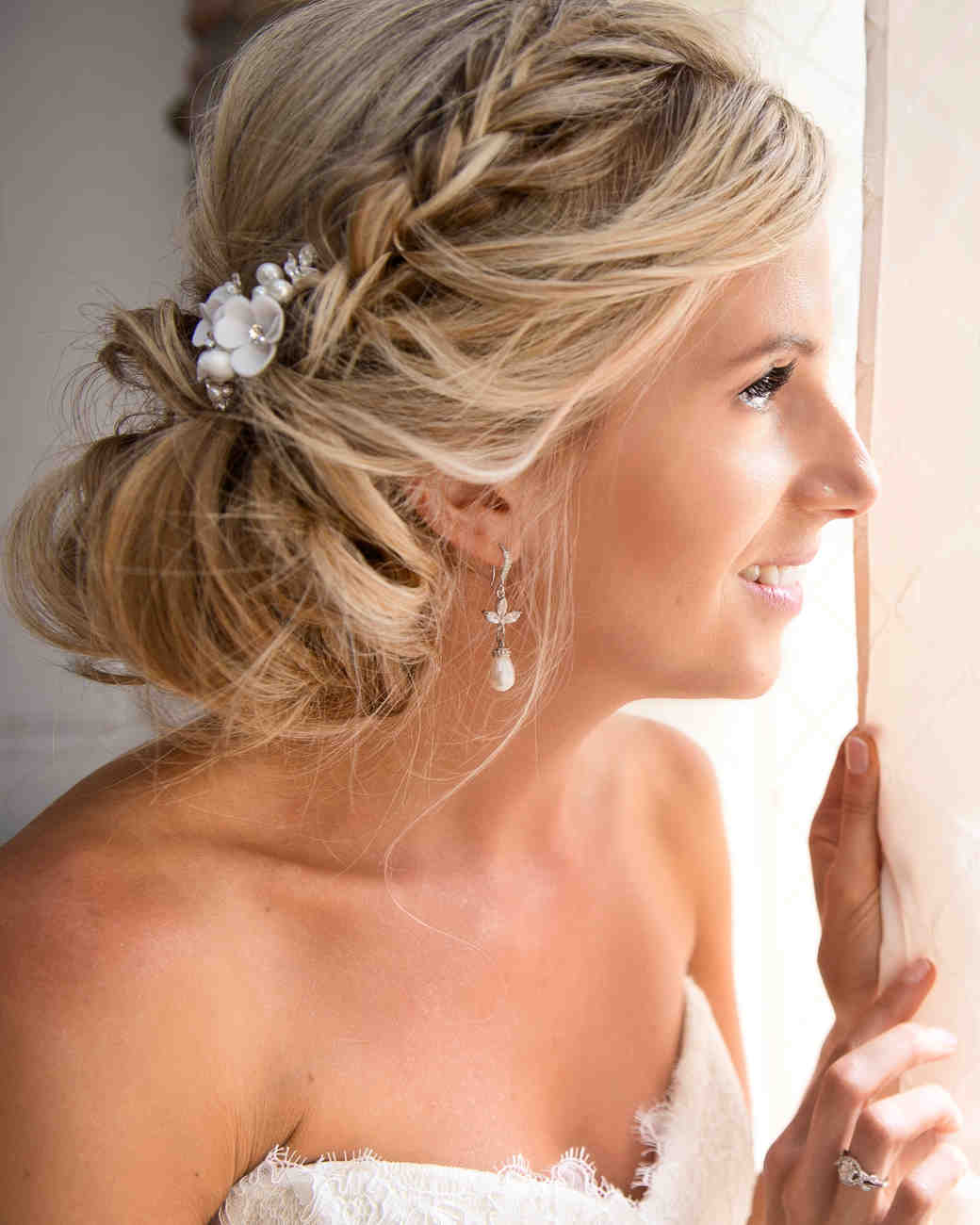 dress - Hairstyles wedding up and to the side video