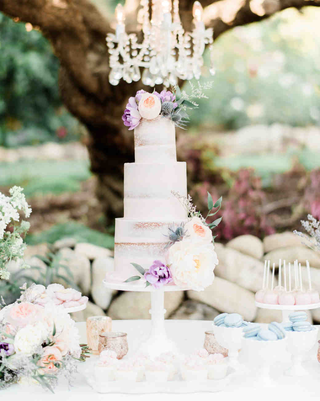 slim naked cake wedding