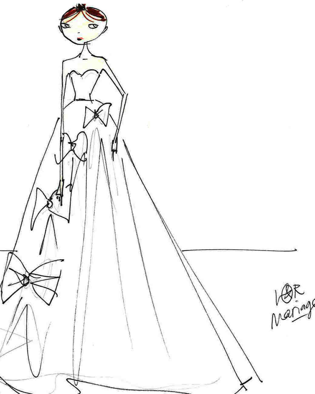 viktor&rolf wedding dress sketch