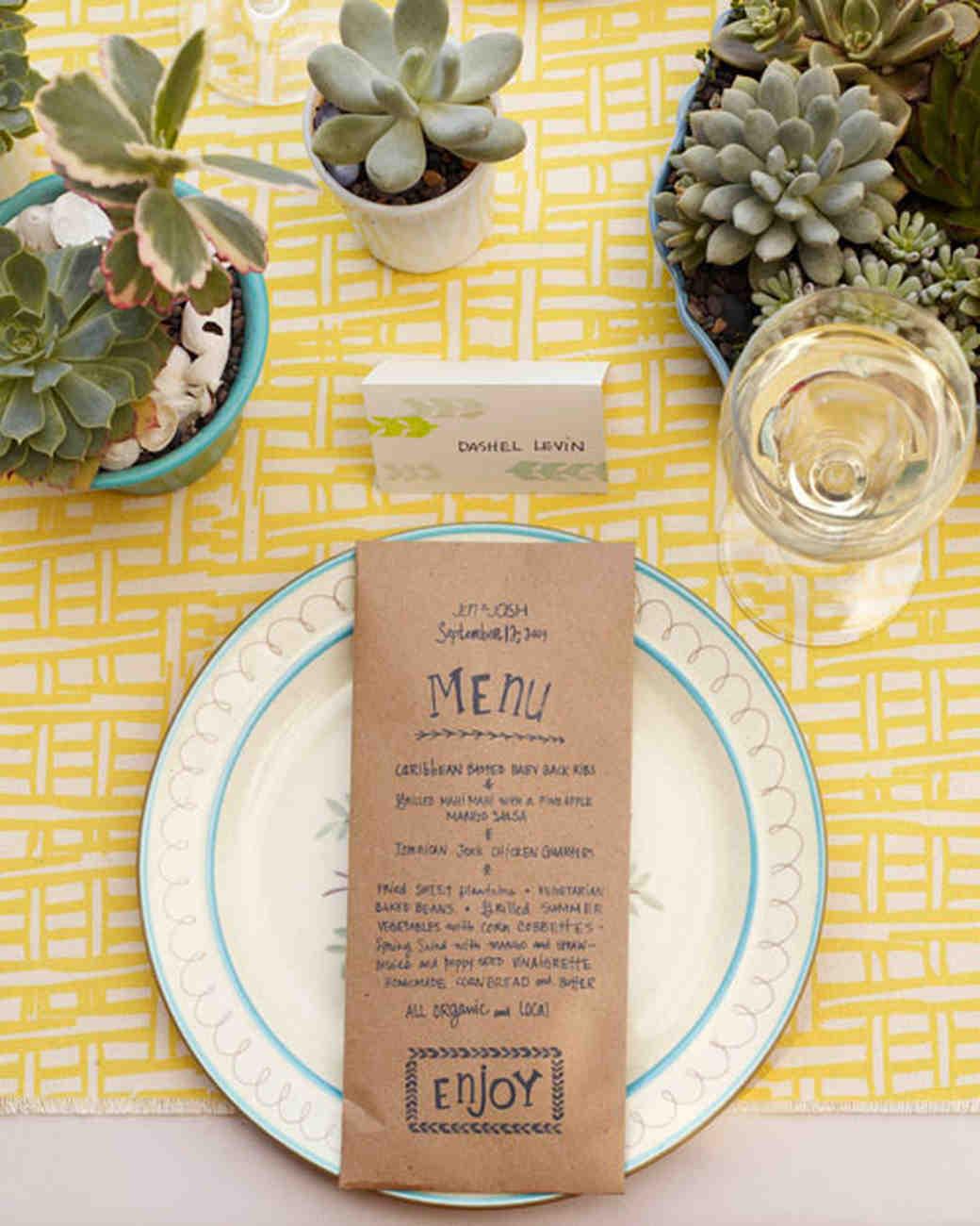 Diy Wedding Food Menu Ideas: Menu Cards From Real Weddings