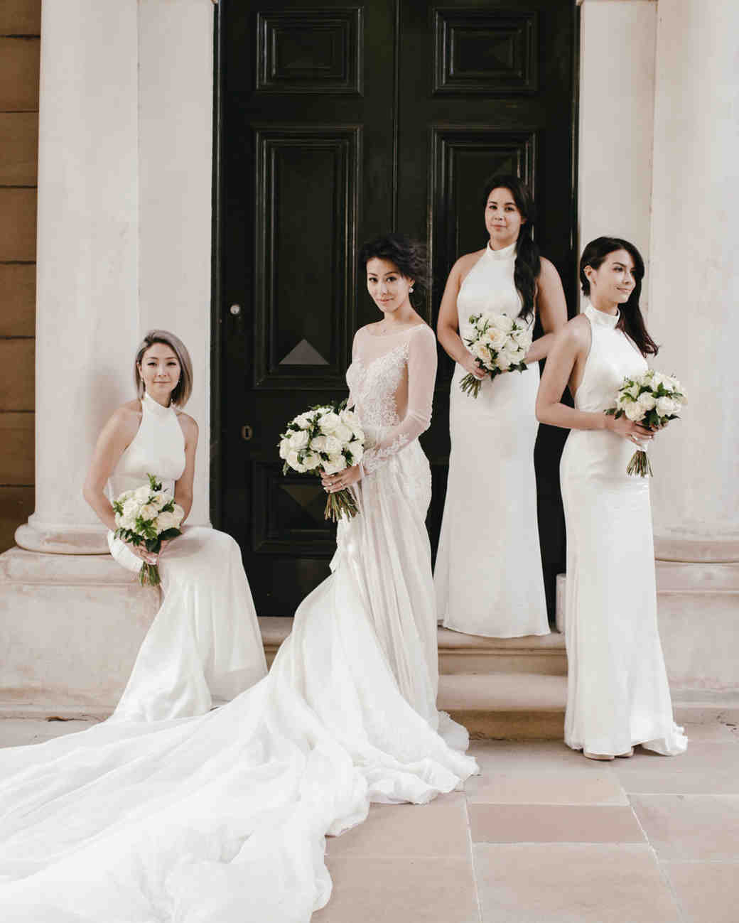 White Bridesmaid Dresses Lara Hotz