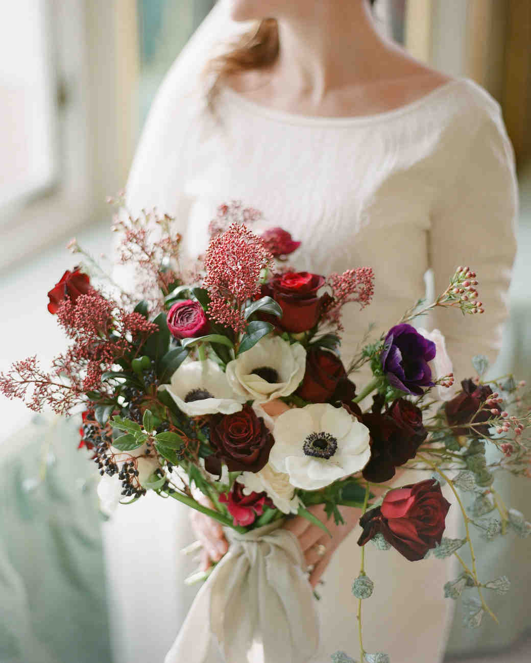 52 gorgeous winter wedding bouquets martha stewart weddings red and white bouquet izmirmasajfo Choice Image