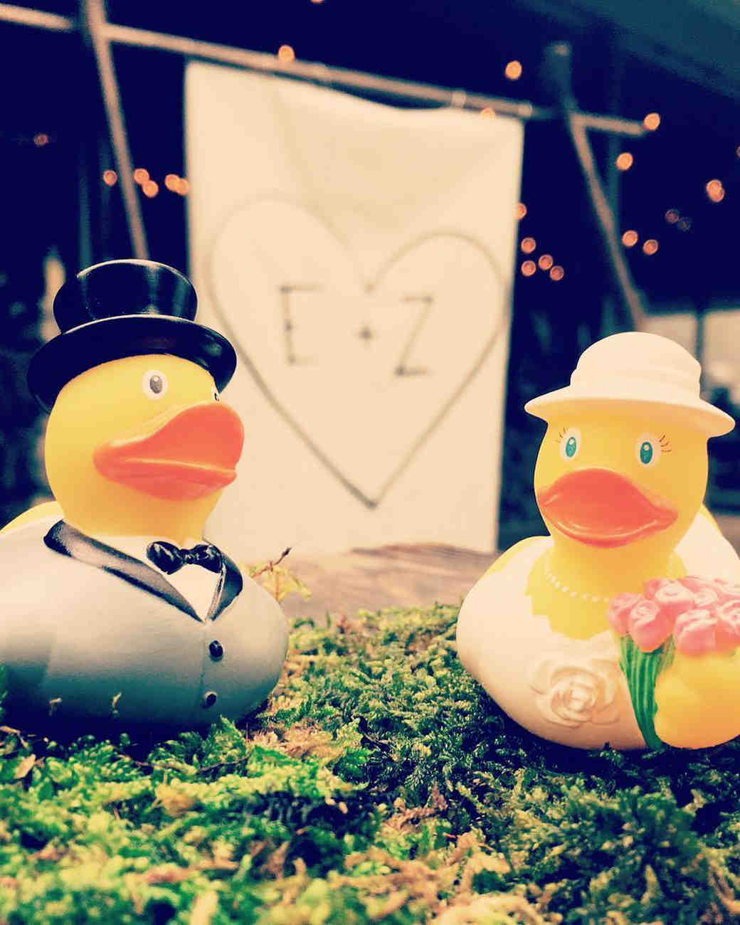 Zozia Mamet and Evan Jonigkeit's Wedding Rubber Ducks
