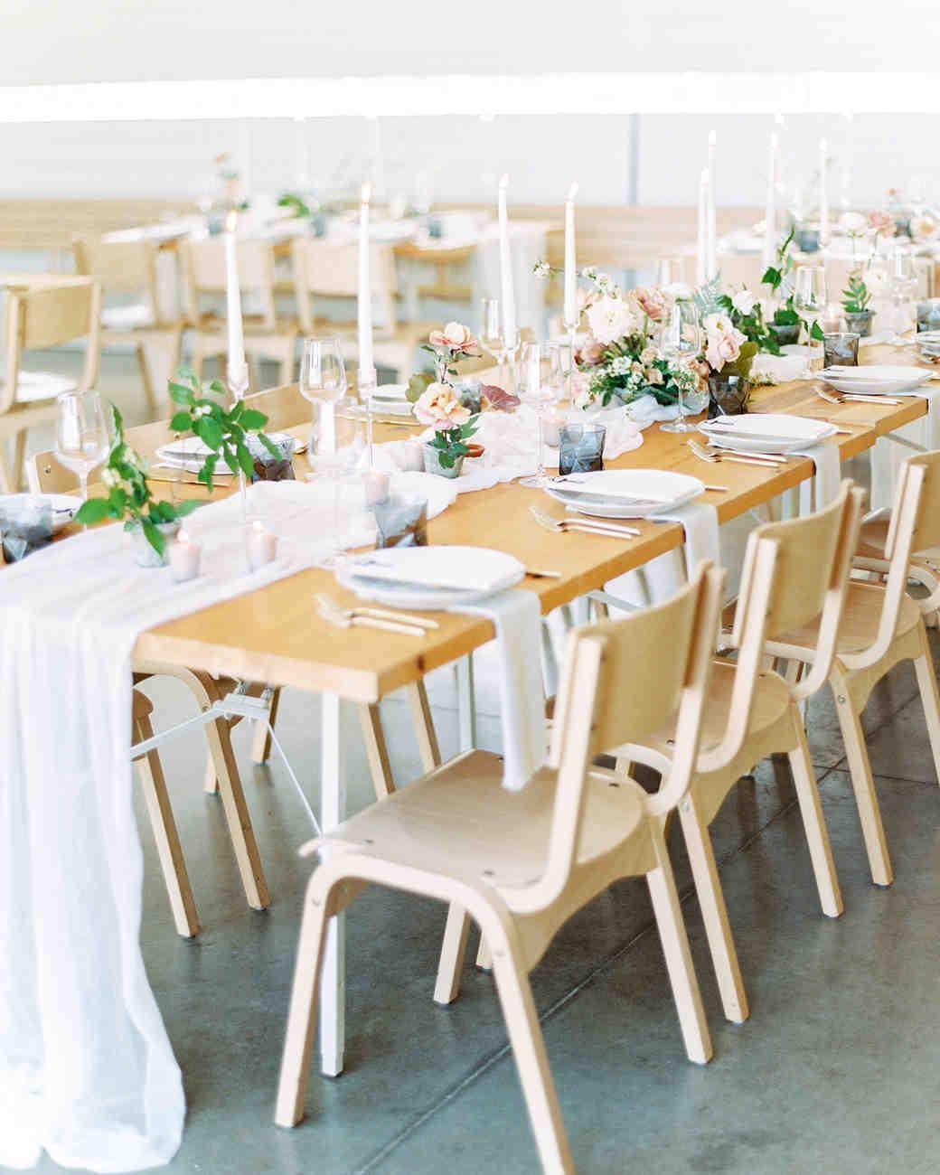 amanda chuck wedding wood table reception