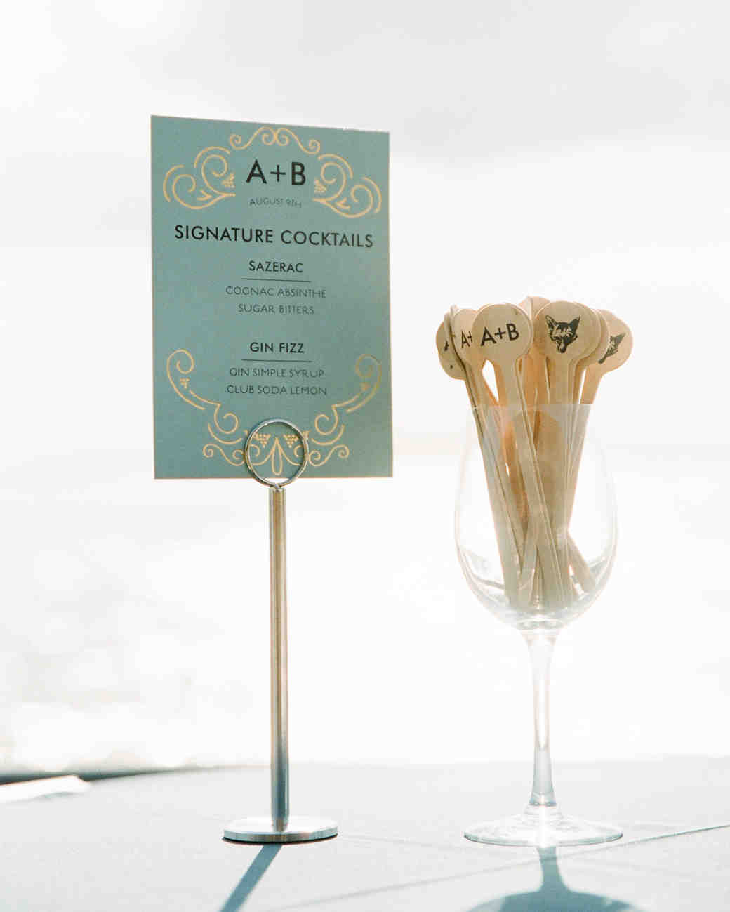 Custom Animal and Initial Swizzle Stick