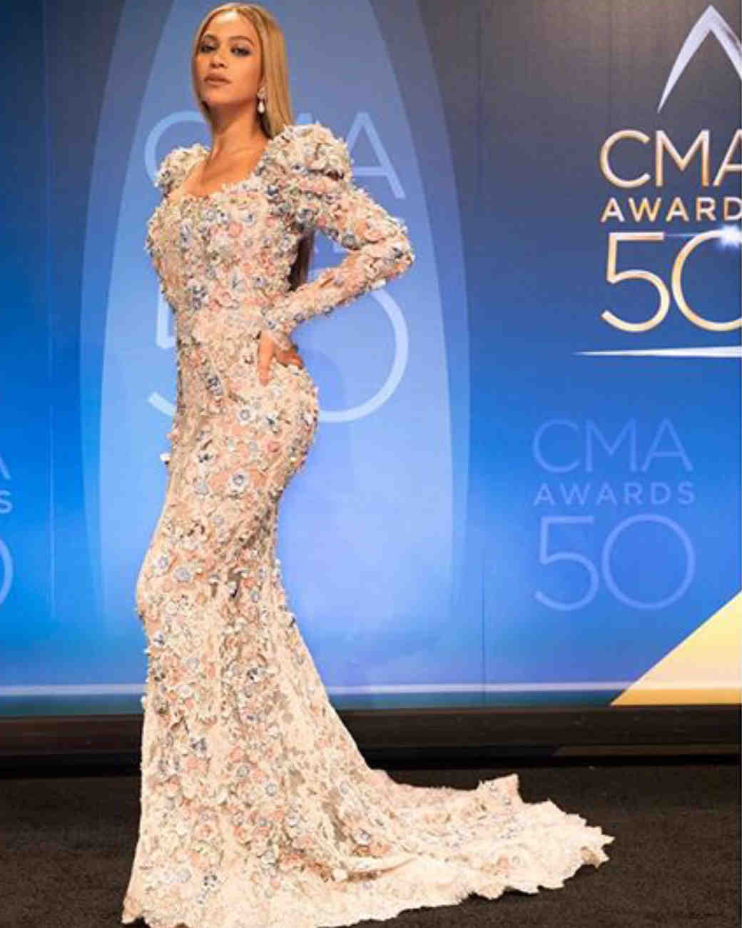 6adb45ef9565 12 Times Beyoncé Wore Wedding Dresses Just Because
