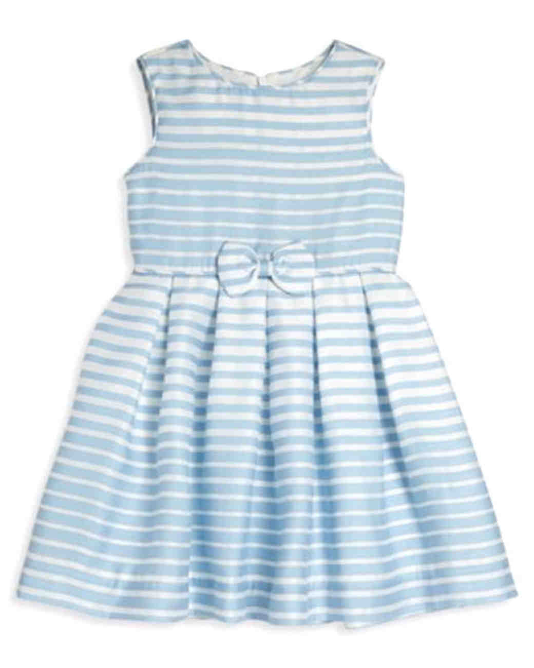 Rachel Riley Striped Bow Dress