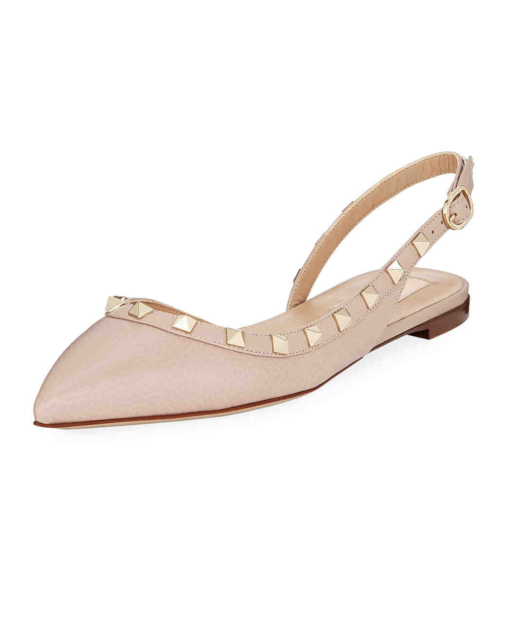 leather sling-back ballet flats bridesmaid shoes