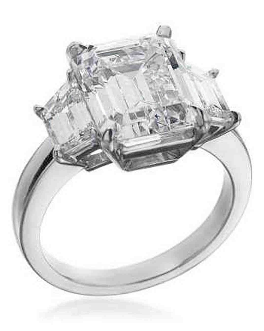 Michael C. Fina Emerald-Cut Engagement Ring