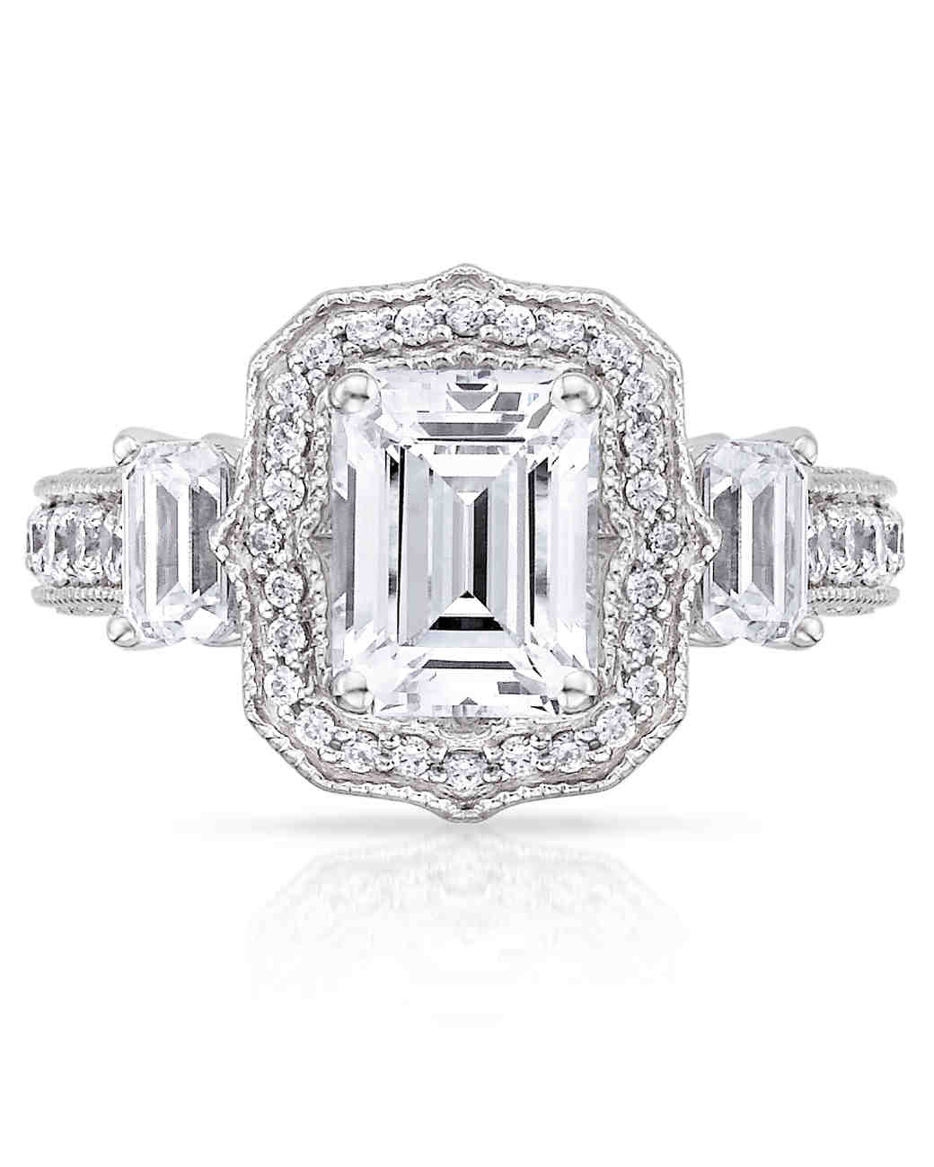 Carizza Emerald-Cut Engagement Ring