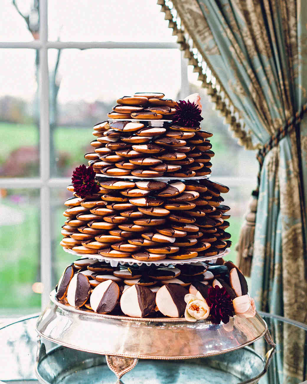 4-tier chocolate cookie tower