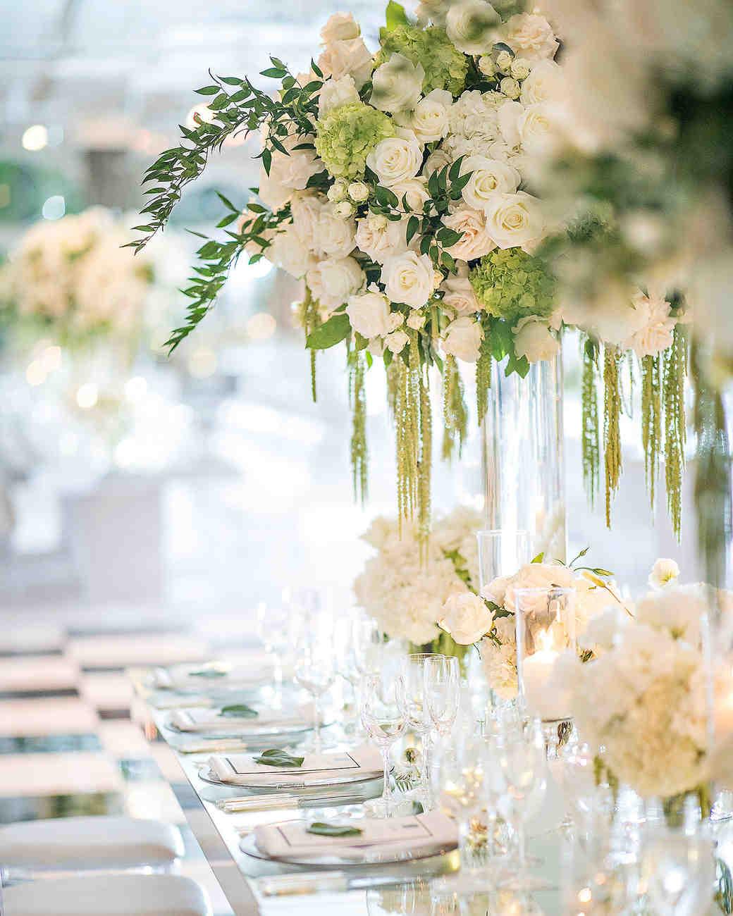 danielle kevin wedding flower centerpieces