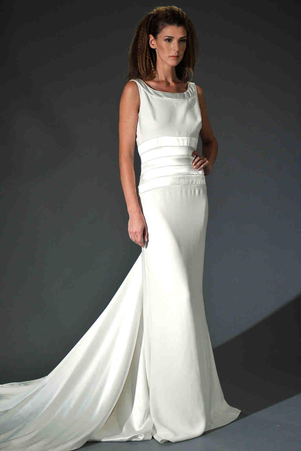 Modern Sheath Wedding Dresses Fall 2012 Bridal Fashion Week