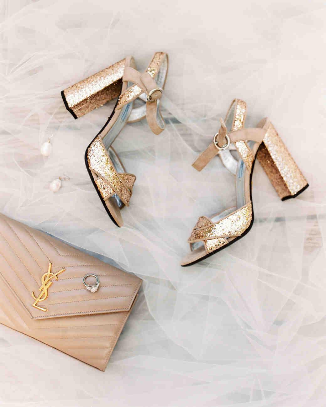 Elizabeth clutch and wedding shoes