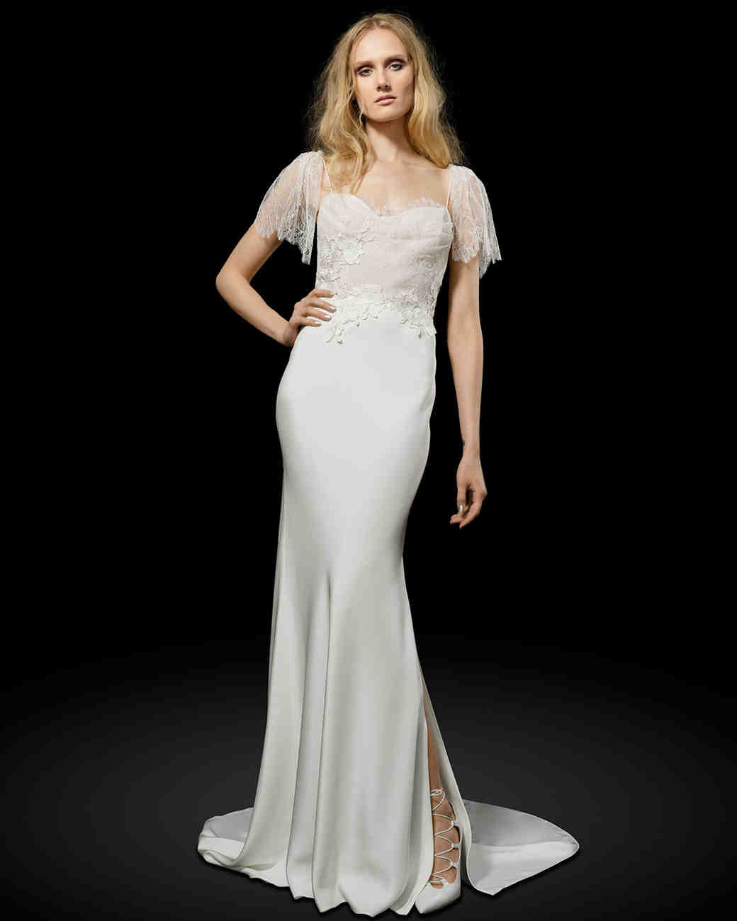 Elizabeth Fillmore simple lingerie-inspired wedding dress