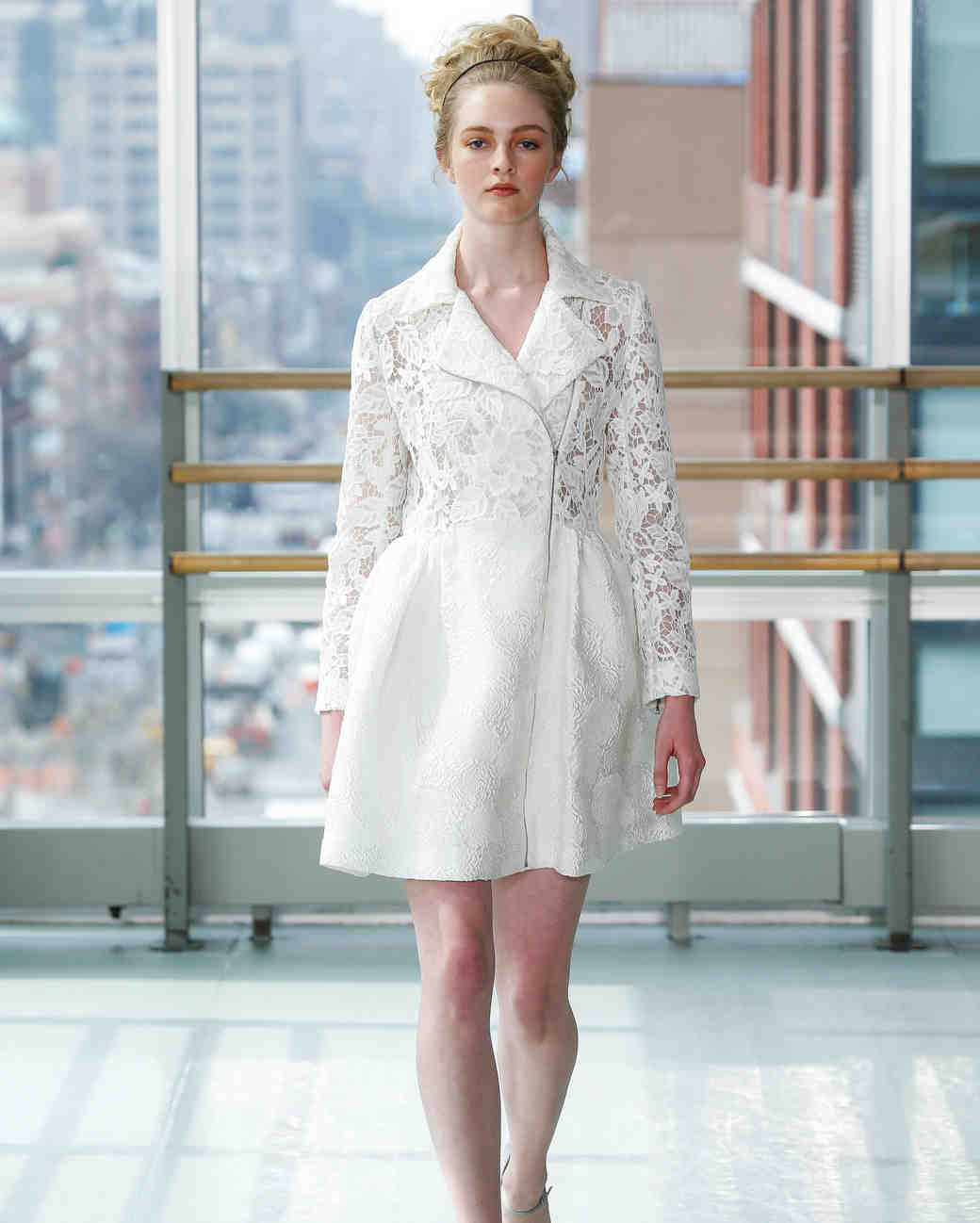 gracy accad wedding dress spring 2019 short blazer lace