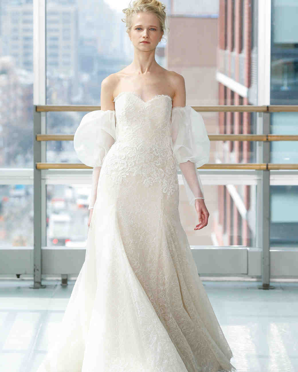 gracy accad wedding dress spring 2019 off the shoulder a-line sweat heart lace