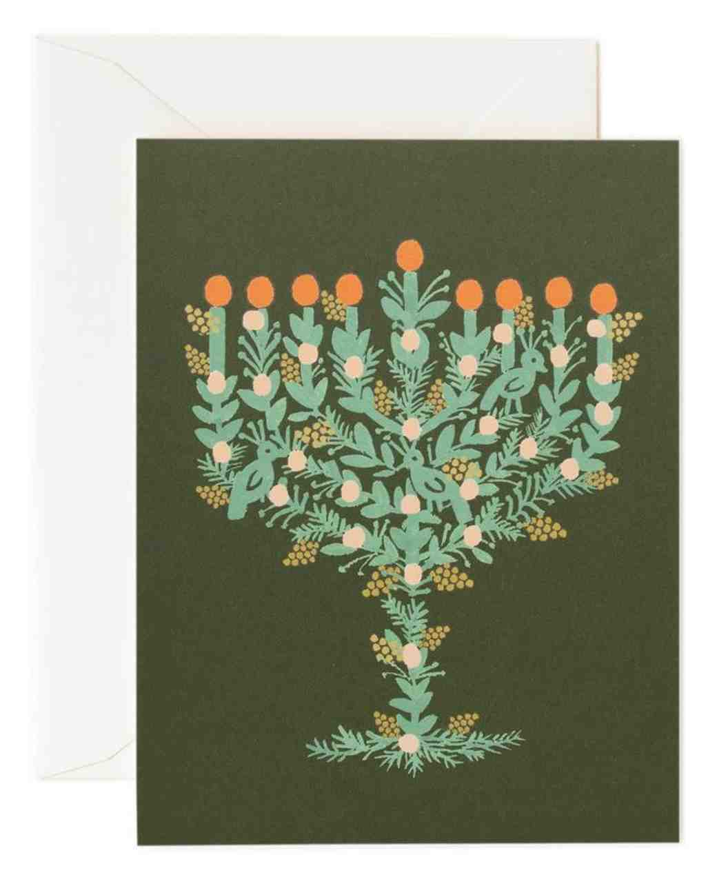 holiday card rifle paper co menorah