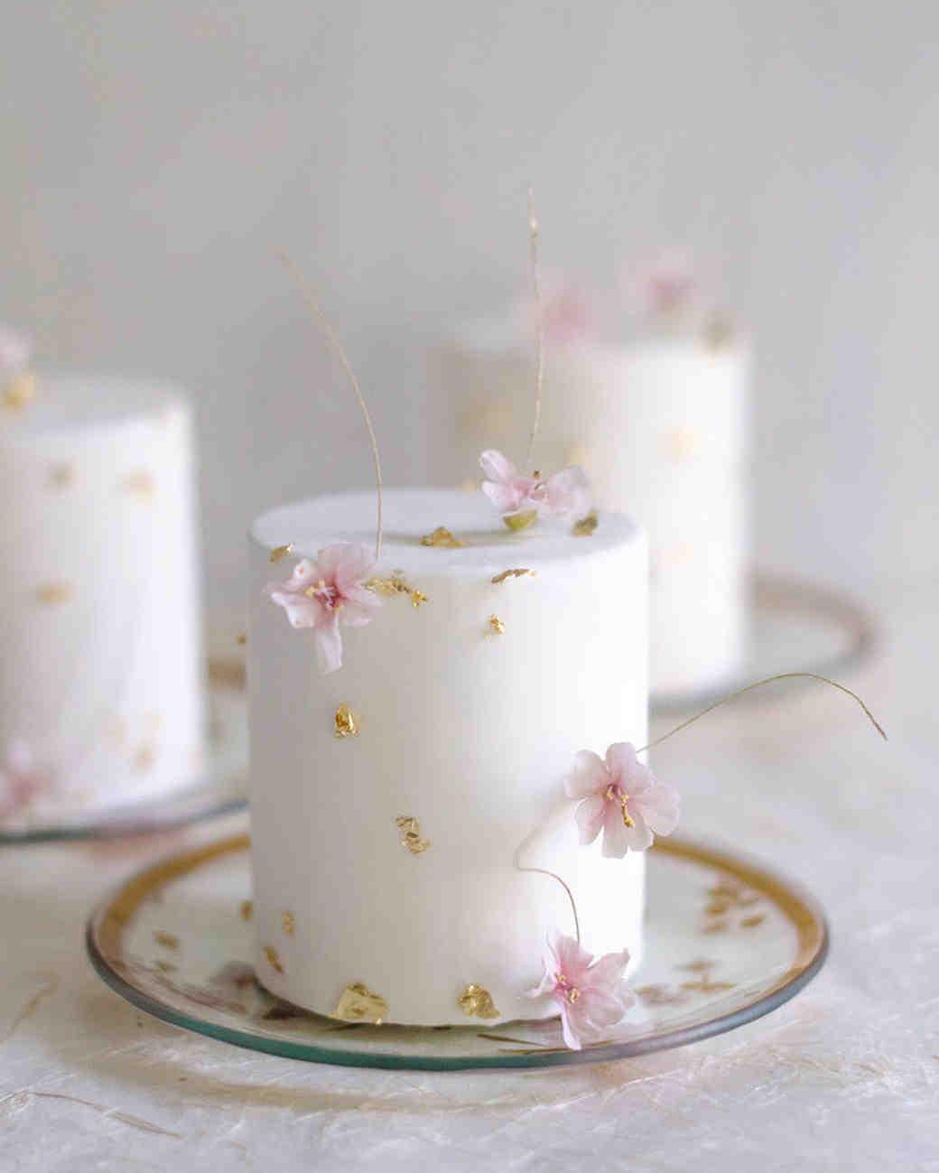 white individual cakes