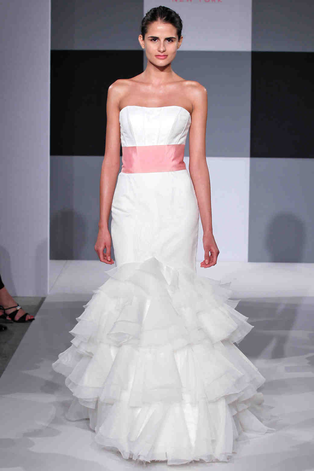 Pink wedding dresses spring 2013 bridal fashion week martha isaac mizrahi ombrellifo Images