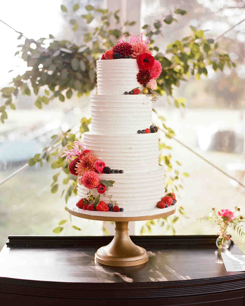 jen geoff wedding tiered cake