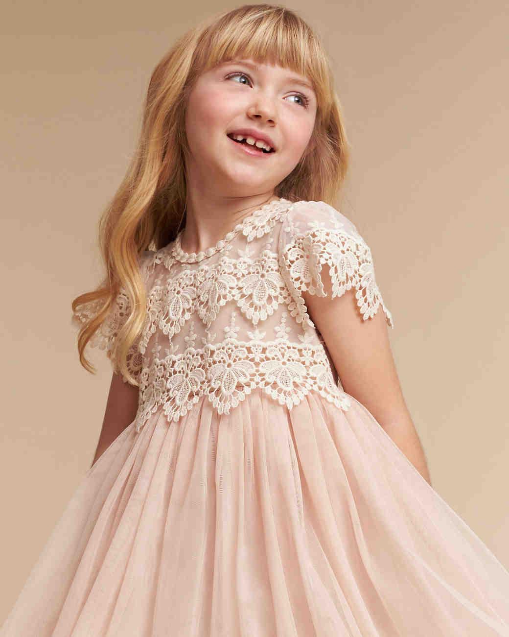 3a2c9b3221c7f The Sweetest Lace Flower Girl Dresses | Martha Stewart Weddings