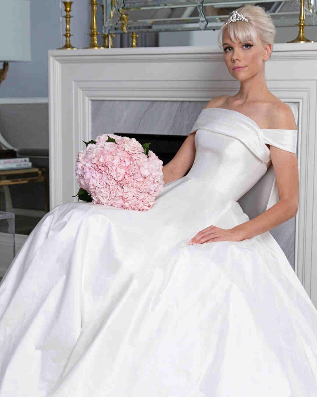 5fd96c72373ce Legends Romona Keveža off the shoulder ball gown wedding dress fall 2019