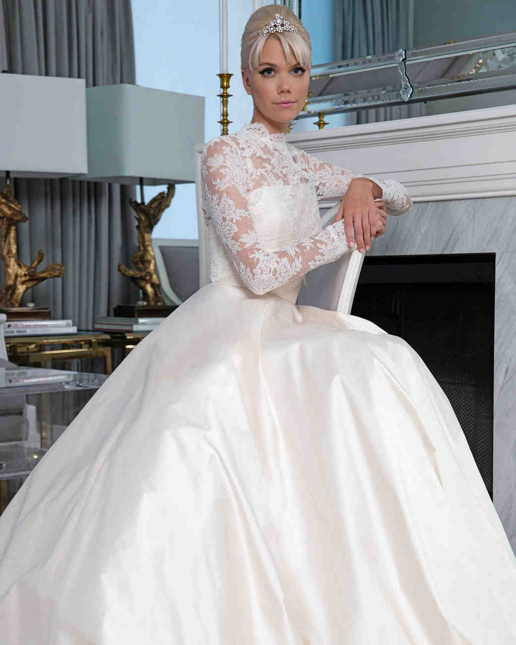 Legends Romona Keveža long sleeves wedding dress fall 2019