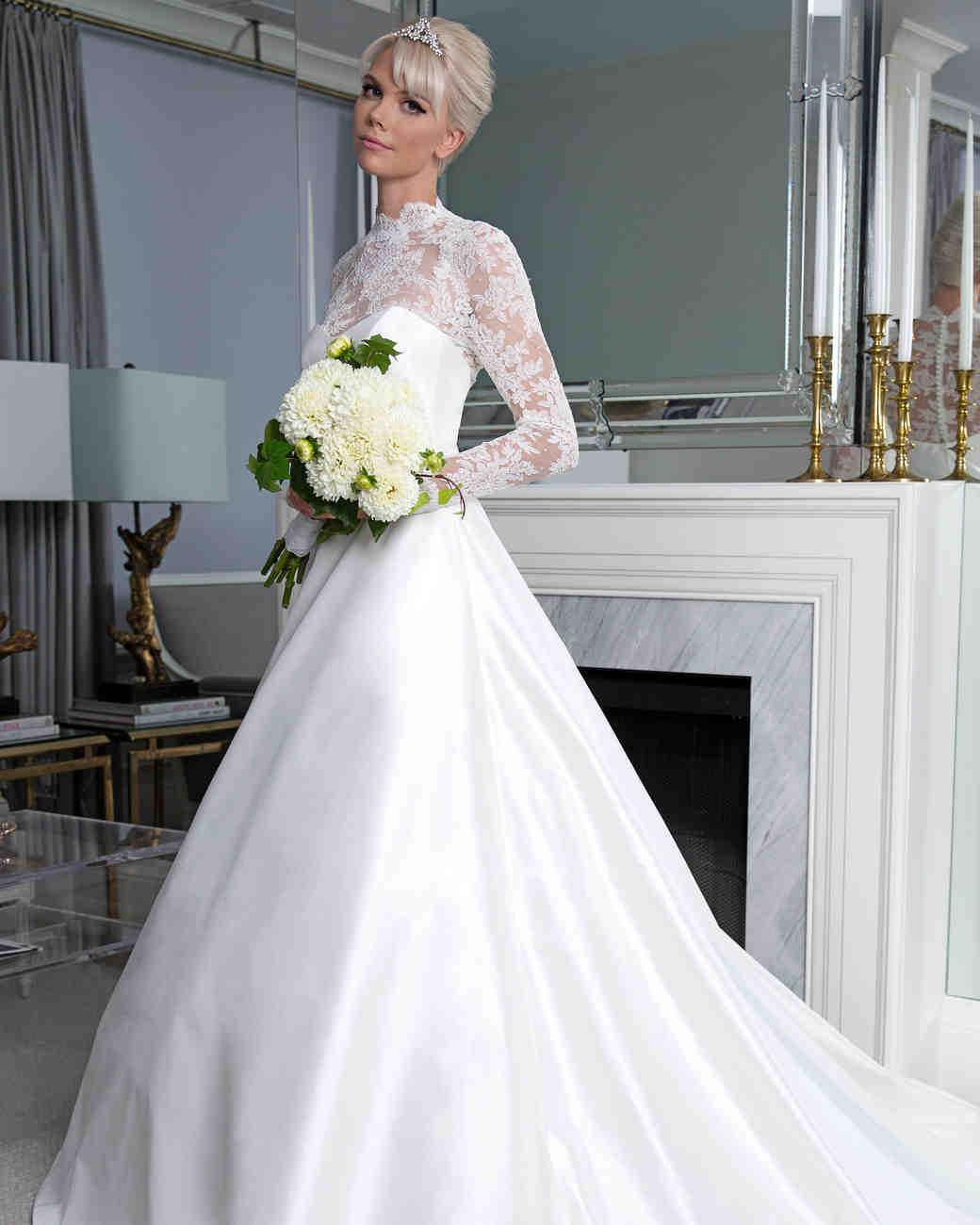 Legends Romona Keveža sweetheart long sleeves wedding dress fall 2019