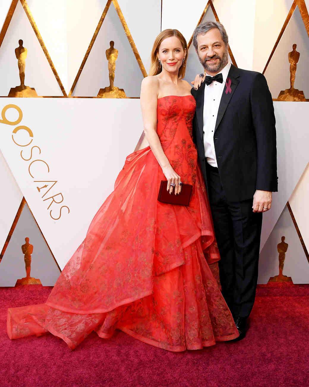 Leslie Mann and Judd Apatow 2018 Oscars