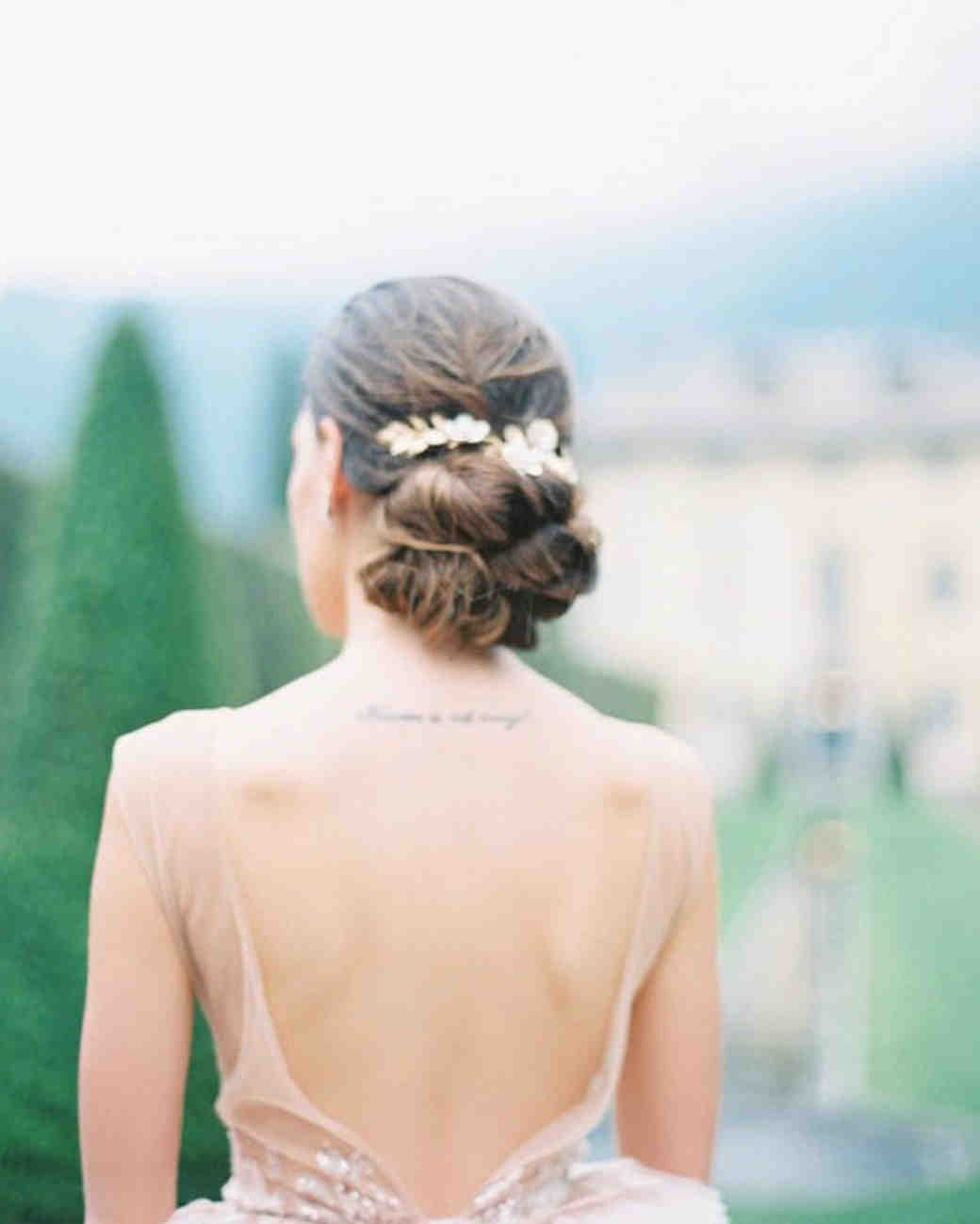 bride hairstyle multiple low buns